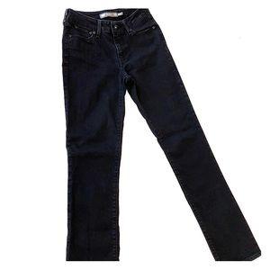 Levi's bold curve black jeans denim straight leg